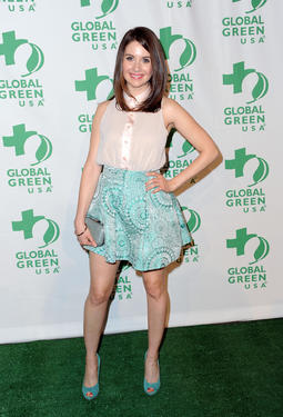 Alison Brie at the Global Green USA&#39;s 9th Annual Pre-Oscar party in California.